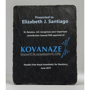 8x10 Slate Textured Plaque